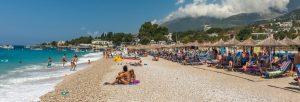 dhermi panorama 300x102 - Beach And Sea At The Resort Dhermi, Albania
