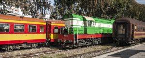 tag albanien panorama 300x120 - Vintage Trains At Central Railway Station Platform Of Tirana City Albania
