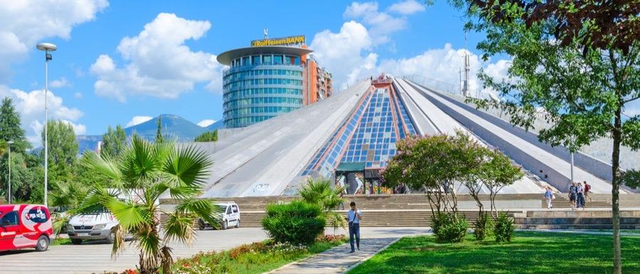 tirana pyramid panorama - Tirana